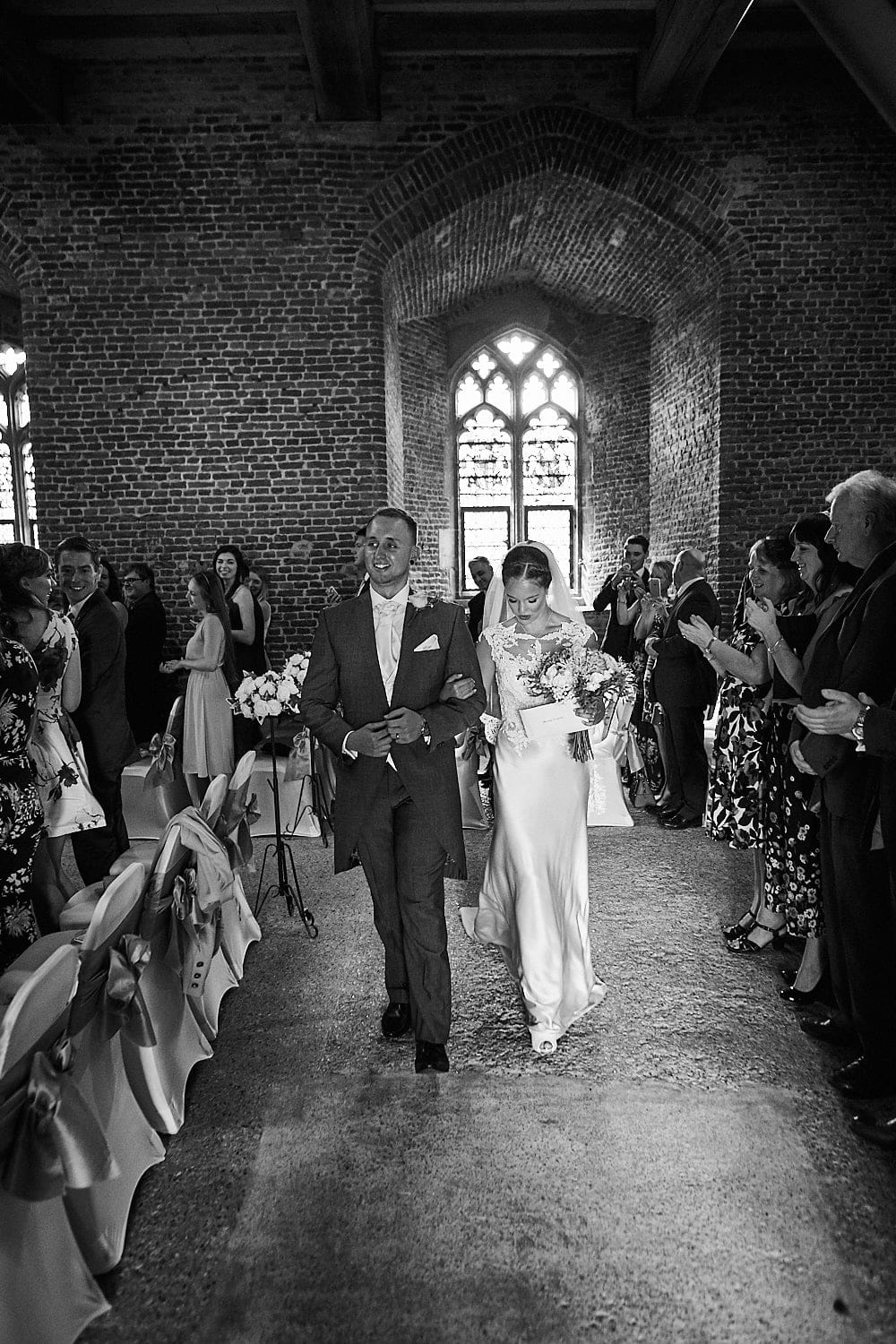 Couple recessional Tattershall Castle