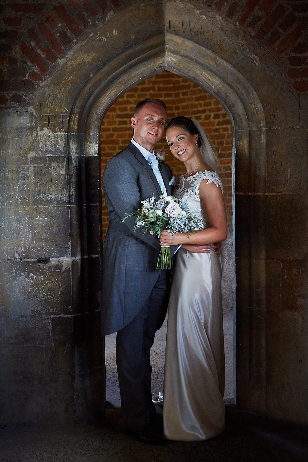 Formal Wedding portrait inside Tattershall Castle.